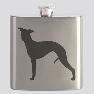 Whippet Silhouette Flask