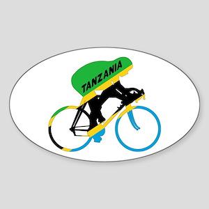Tanzania Cycling Sticker (Oval)