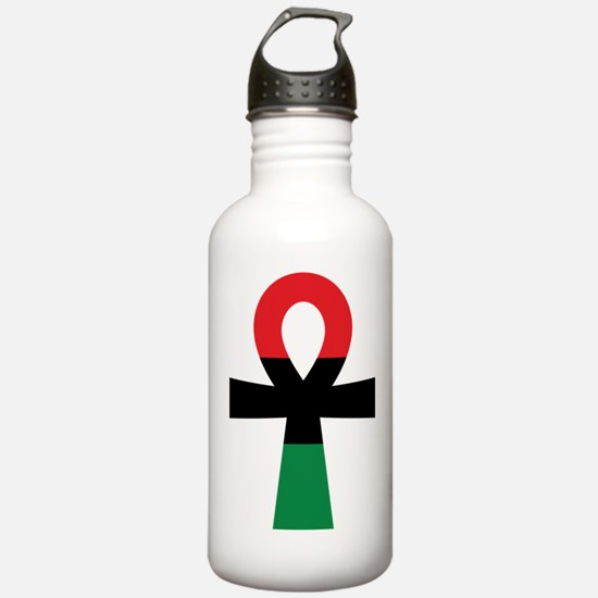 Red, Black & Green Ankh Sports Water Bottle