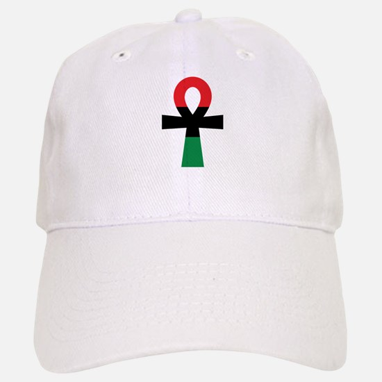 Red, Black & Green Ankh Cap