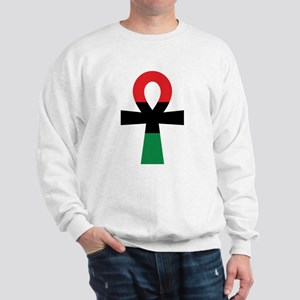 Red, Black & Green Ankh Jumper