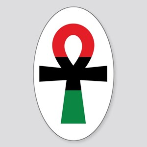 Red, Black & Green Ankh Sticker
