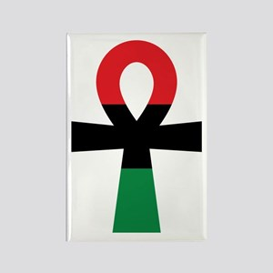 Red, Black & Green Ankh Magnets