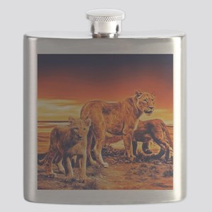 Lion Family Flask