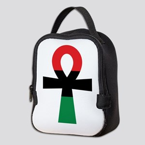Red, Black & Green Ankh Neoprene Lunch Bag