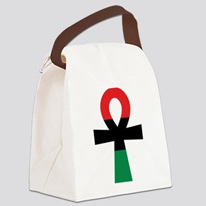 Red, Black & Green Ankh Canvas Lunch Bag