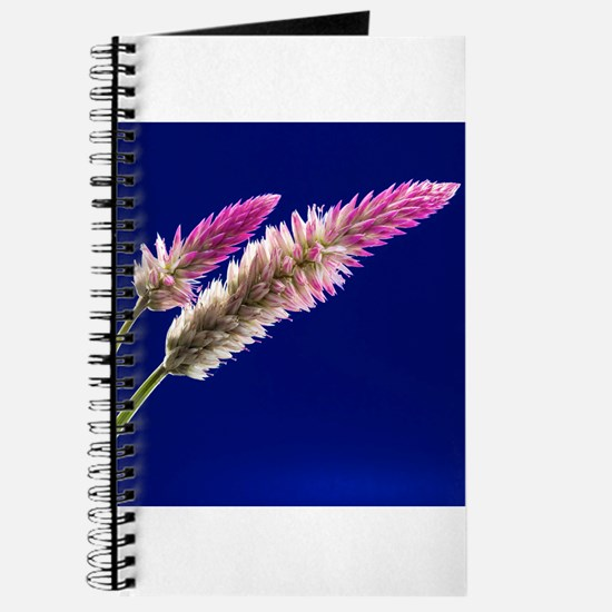 Flowers on Blue Journal