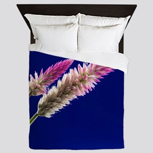 Flowers on Blue Queen Duvet