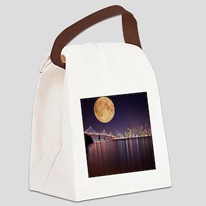 San Francisco Full Moon Canvas Lunch Bag