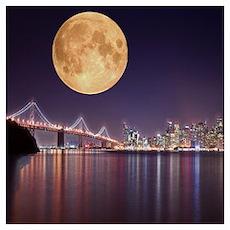 San Francisco Full Moon Poster