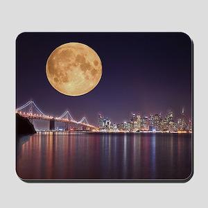 San Francisco Full Moon Mousepad