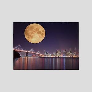 San Francisco Full Moon 5'x7'Area Rug