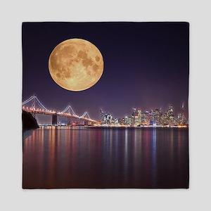 San Francisco Full Moon Queen Duvet