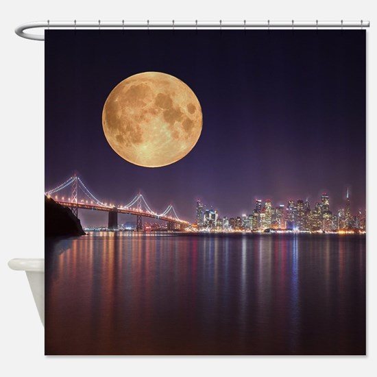 San Francisco Full Moon Shower Curtain