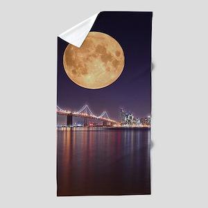 San Francisco Full Moon Beach Towel