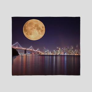 San Francisco Full Moon Throw Blanket