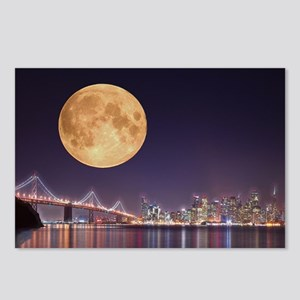 San Francisco Full Moon Postcards (Package of 8)