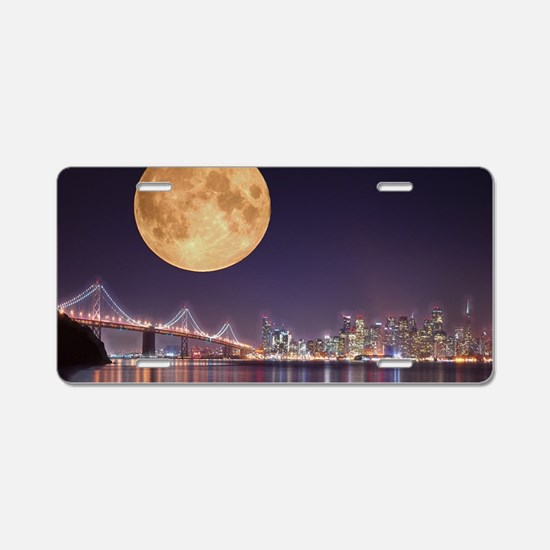 San Francisco Full Moon Aluminum License Plate