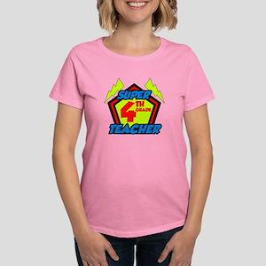 Super Fourth Grade Teacher Women's Dark T-Shirt