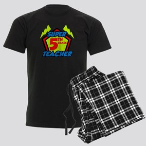 Super Fifth Grade Teacher Men's Dark Pajamas