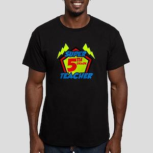 Super Fifth Grade Teac Men's Fitted T-Shirt (dark)