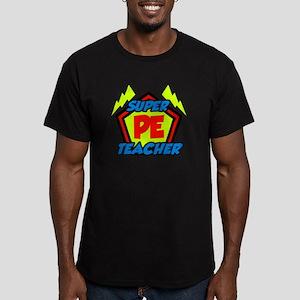 Super PE Teacher Men's Fitted T-Shirt (dark)