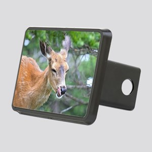 Nose Lick Deer Rectangular Hitch Cover