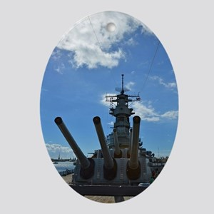 USS Missouri Oval Ornament