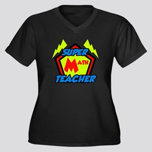 Super Math T Women's Plus Size V-Neck Dark T-Shirt