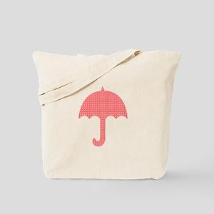 Cute Red Umbrella Tote Bag