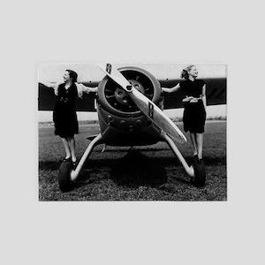 Fly girls 5'x7'Area Rug