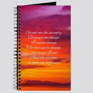 Serenity Prayer - Sunset Journal