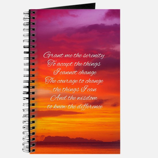 Serenity Prayer - Sunset Journal