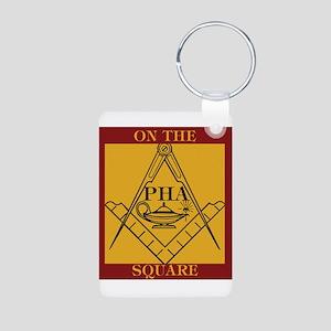 PHA on the square. Aluminum Photo Keychain