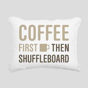 Coffee Then Shuffleboard Rectangular Canvas Pillow