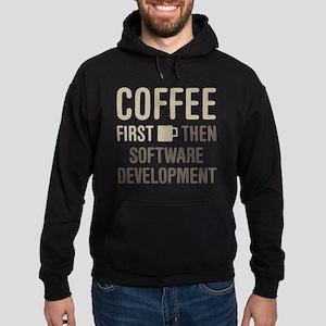 Coffee Then Software Development Hoodie (dark)