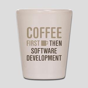 Coffee Then Software Development Shot Glass
