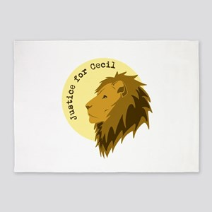 Justice for Cecil 5'x7'Area Rug