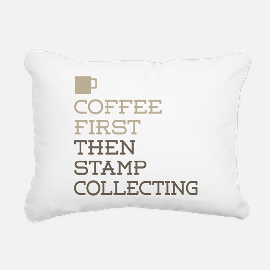 Coffee Then Stamp Collec Rectangular Canvas Pillow