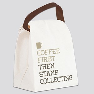 Coffee Then Stamp Collecting Canvas Lunch Bag
