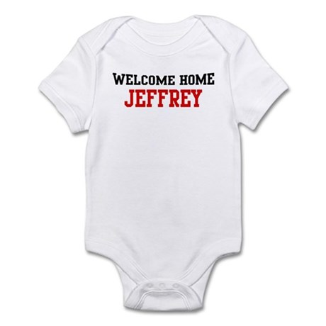 Welcome home JEFFREY Infant Bodysuit