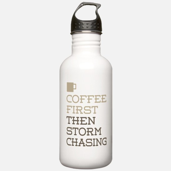 Coffee Then Storm Chas Water Bottle