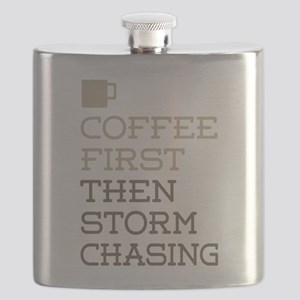 Coffee Then Storm Chasing Flask