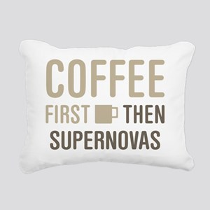 Coffee Then Supernovas Rectangular Canvas Pillow