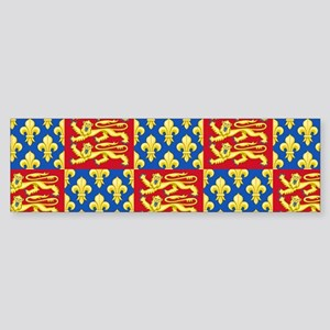 Royal Arms of England and France Bumper Sticker