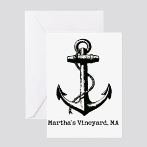 Martha's Vineyard, MA Anchor Greeting Card