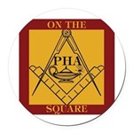 Pha On The Square. Round Car Magnet