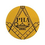 PHA on the square. Button