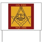 PHA on the square. Yard Sign