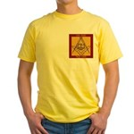 PHA on the square. Yellow T-Shirt